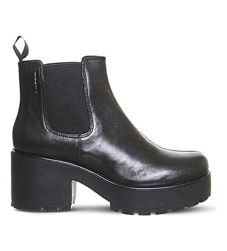 VAGABOND Dioon chunky leather Chelsea boots (Black+leather