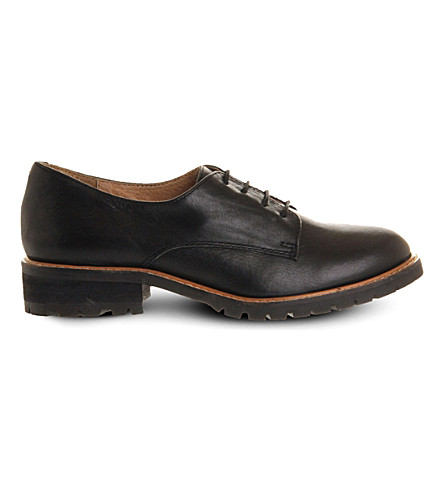 OFFICE Kennedy leather shoes (Black+leather