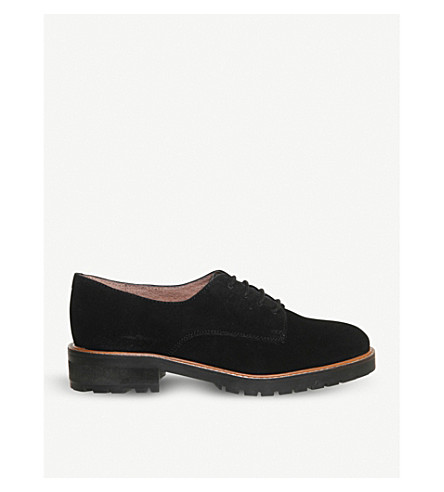 OFFICE Kennedy chunky suede Derby shoes (Black+suede