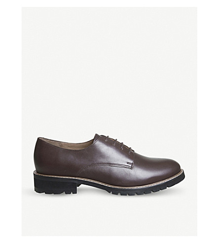 OFFICE Kennedy chunky leather Derby shoes (Burgundy+leather