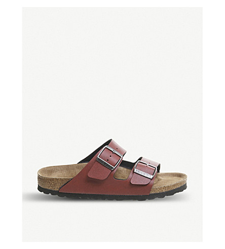 BIRKENSTOCK Arizona Birko-Flor sandals (Pull+up+bordeaux+veg