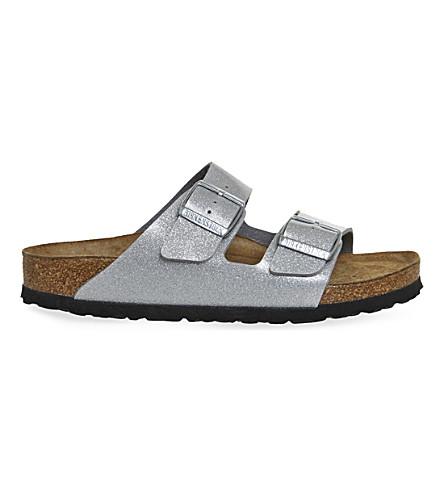 BIRKENSTOCK Arizona leather sandals (Magic galaxy silver