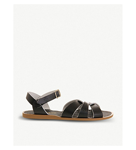 OFFICE Salt Water leather sandals (Black+leather