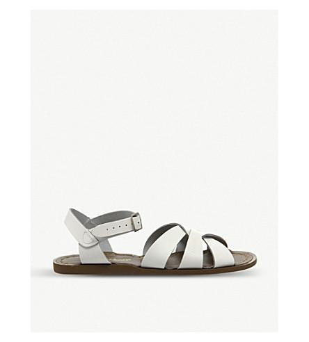 OFFICE 盐水皮革凉鞋 (白色 + 皮革