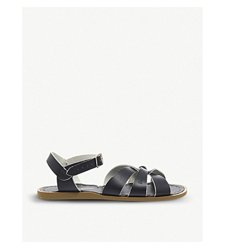 OFFICE Salt Water leather sandals (Navy+leather