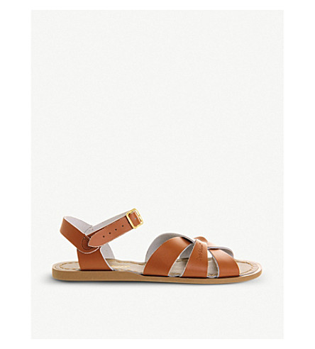 OFFICE Salt Water leather sandals (Tan+leather