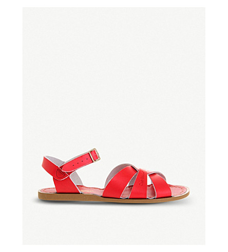 OFFICE Salt Water leather sandals (Red+leather
