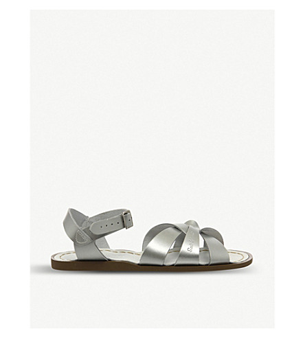 OFFICE Salt Water leather sandals (Silver+leather