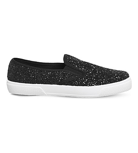 OFFICE Kicker glitter-embossed skate shoes (New+black+glitter