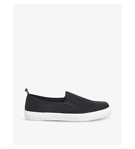 OFFICE 喷射蛇效果仿皮革滑板鞋履 (黑色 + + 品牌)