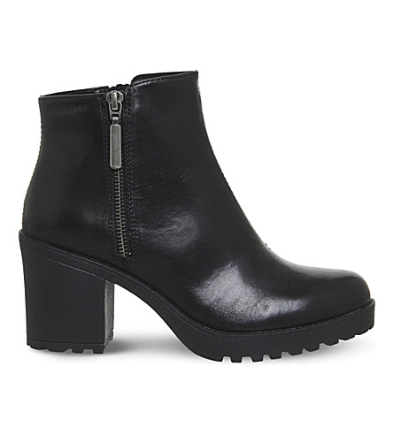 VAGABOND Grace leather ankle boots (Black+leather