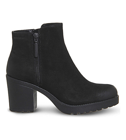 VAGABOND Grace leather ankle boots (Black+nubuck