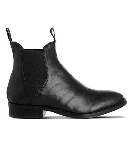 OFFICE Cockney leather Chelsea boots (Black+leather