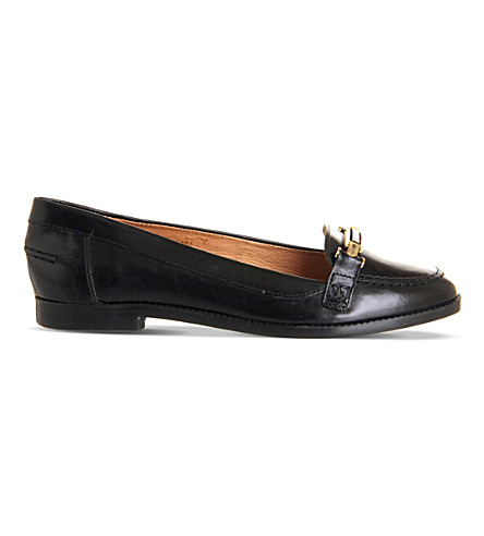 OFFICE Victoria leather loafers (Black+leather