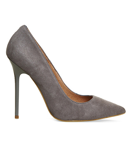 OFFICE On Tops suede court shoes (Grey-suede