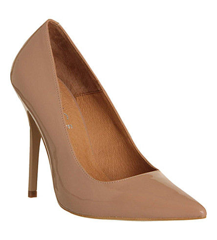 OFFICE On Tops patent-leather courts (Nude patent