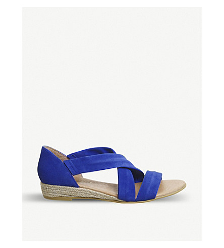 OFFICE Hallie strappy suede sandals (Bright+blue+suede
