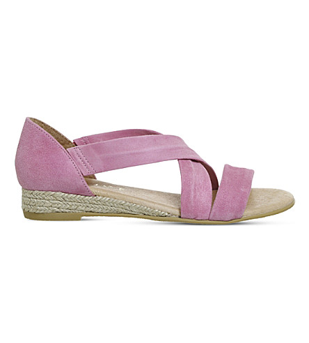 OFFICE Hallie suede sandals (Pastel+pink+suede