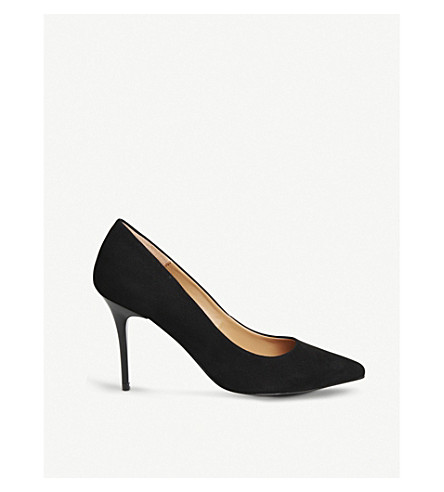 OFFICE Graduate Point suede courts (Black+kid+suede