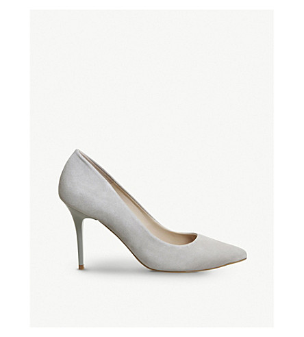 OFFICE Graduate Point suede courts (Grey+kid+suede