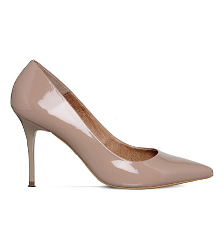 OFFICE Graduate Point patent-leather courts (Nude+patent