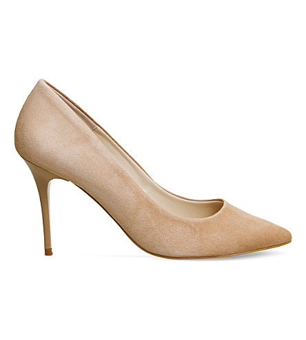 OFFICE Graduate Point suede courts (Nude+kid+suede