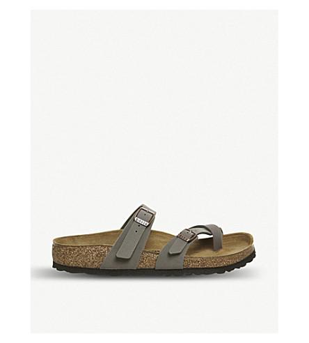 BIRKENSTOCK Mayari faux-leather sandals (Stone