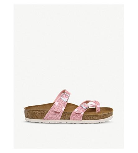 BIRKENSTOCK Mayari cross-strap glittered faux-leather sandals (Magic+snake+rose