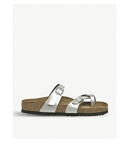 BIRKENSTOCK Mayari criss-cross metallic sandals (Silver