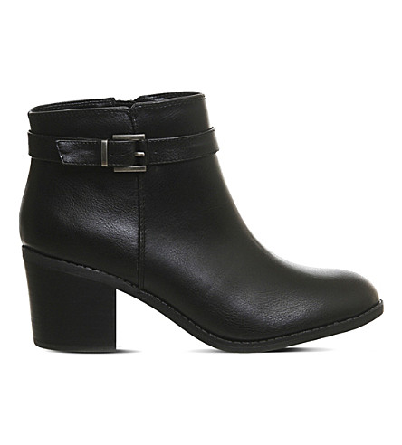 OFFICE Favour buckle strap boots (Black