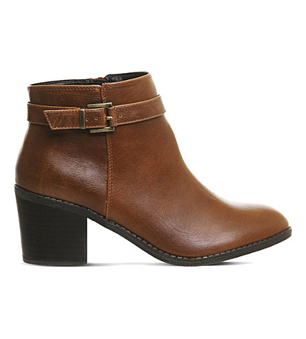 OFFICE Favour buckle strap boots (Tan