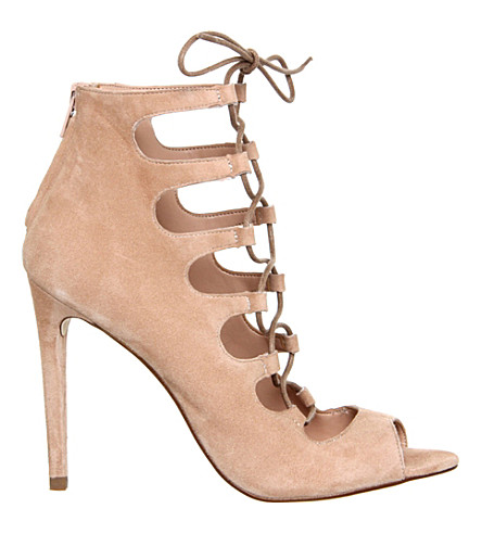 OFFICE Parisian Ghillie sandals (Nude+kid+suede