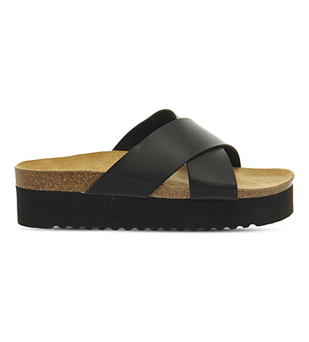 OFFICE Warner platform sandals (Black