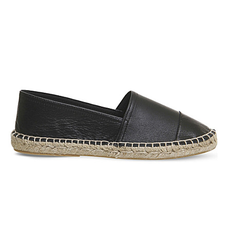 OFFICE Lucky leather espadrilles (Black+leather