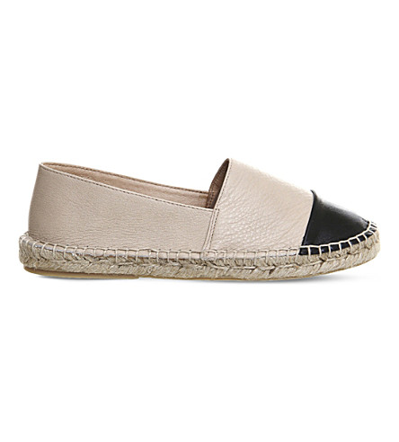 OFFICE Lucky leather espadrilles (Nude+leather+black