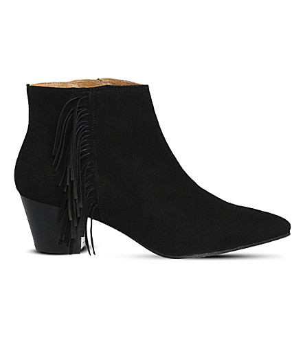 OFFICE Idaho suede ankle boots (Black-suede