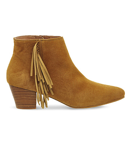OFFICE Idaho suede ankle boots (Tan suede