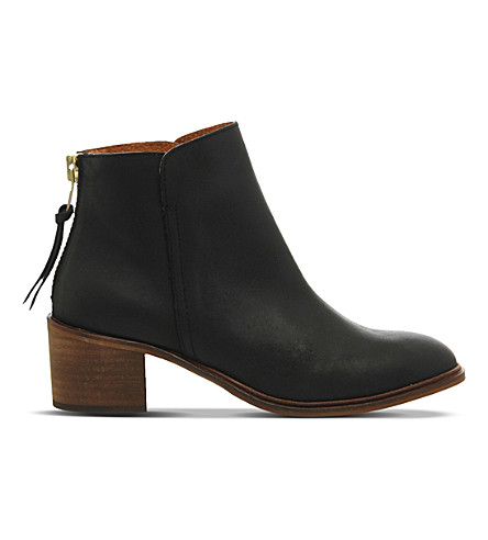 OFFICE Inventive leather ankle boots (Black+leather