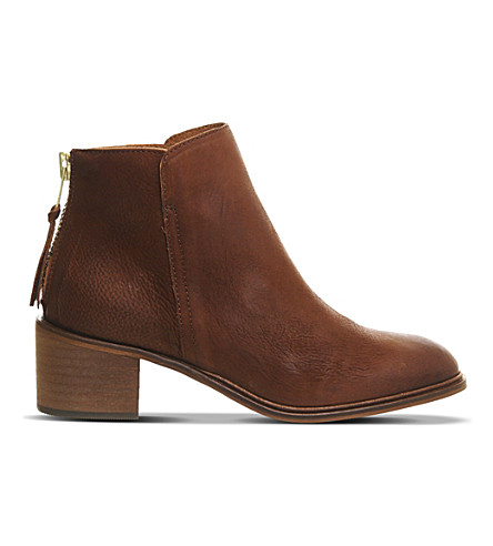 OFFICE Inventive leather ankle boots (Tan+leather