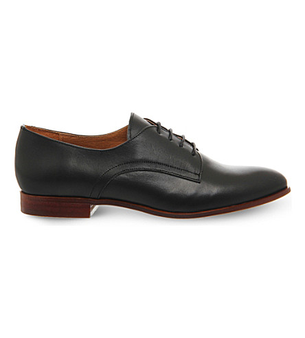 OFFICE Reach lace-up leather brogues (Black+leather