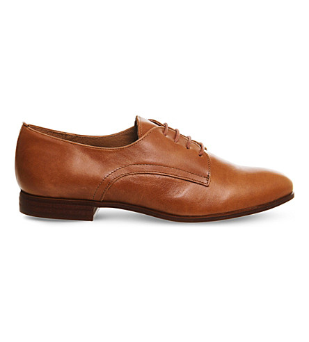 OFFICE Reach lace-up leather brogues (Tan+leather