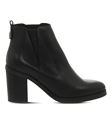 OFFICE Illusion leather Chelsea boots (Black leather
