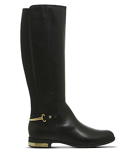OFFICE Emperor leather riding boots (Black leather