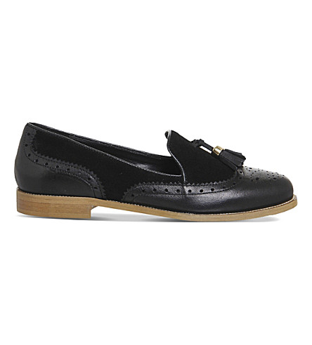 OFFICE Ringo leather and suede loafers (Black+leather+suede