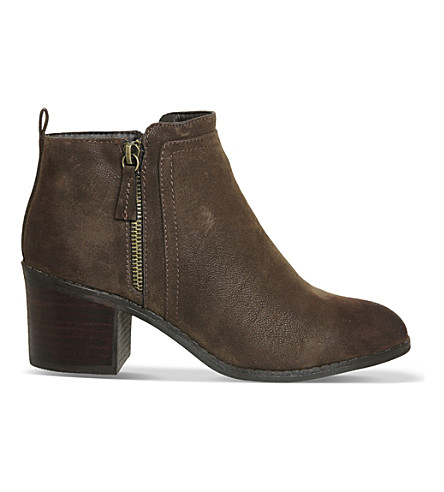 OFFICE Incarnation faux-leather ankle boots (Chocolate