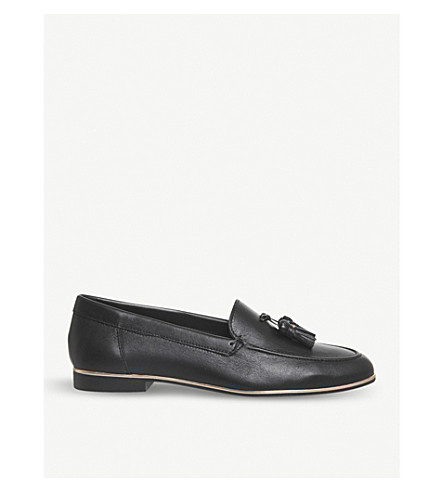 OFFICE Retro tassel leather loafers (Black+leather+rose
