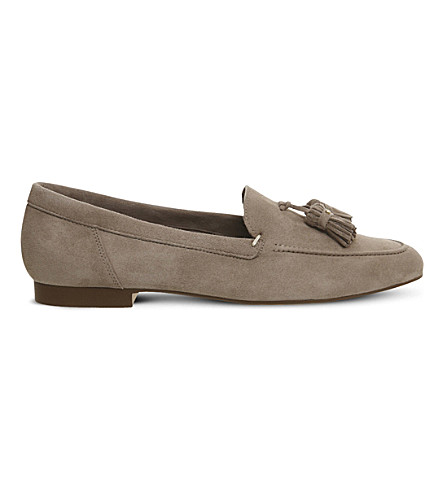 OFFICE Retro suede tassel loafers (Taupe+suede