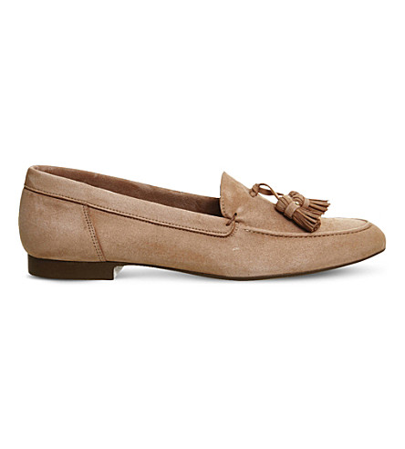 OFFICE Retro suede tassel loafers (Nude+suede