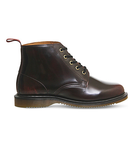 DR. MARTENS Emmeline leather ankle boot (Cherry red arcadia