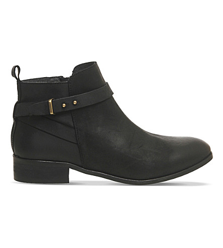 OFFICE Instinct leather ankle boots (Black+leather